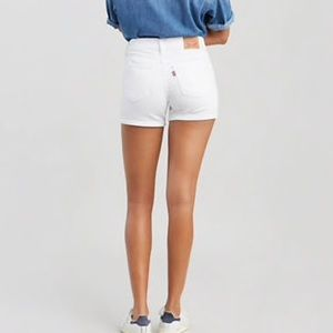 Levi's Mid Length Shorts- White- New With Tags